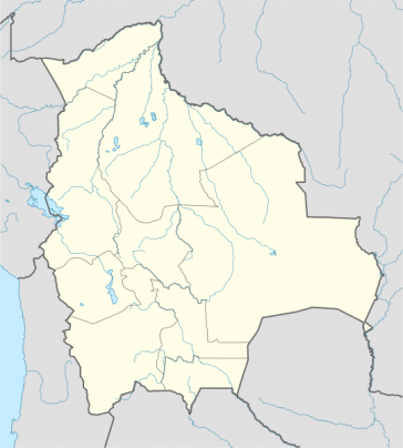 Lage des TIPNIS-Gebietes in Bolivien