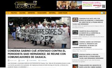 Internetseite der Zeitschrift Tucan