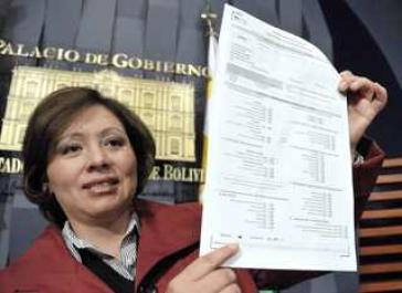 Die Entwicklungsministerin Boliviens, Viviana Caro