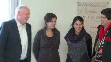 Chilenische Aktivisten treffen Linke-Politiker Oskar Lafontaine