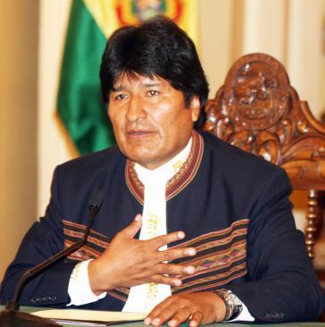 Präsident Evo Morales will landwirtschaftliche Produktion des Landes erhöhen