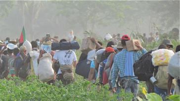 Rückkehr der Vertriebenen in die Gemeinde Las Pavas, Kolumbien