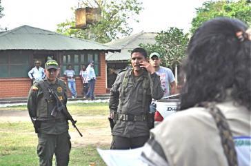 Ankunft der Vertriebenen in der Gemeinde Las Pavas, Kolumbien