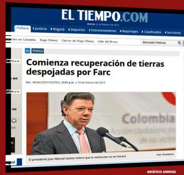 """El Tiempo titelt: """"Die Rückgabe des von den FARC geraubten Landes beginnt"""""""