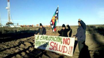 Mapuche besetzen Bohrtürme in Neuquén.
