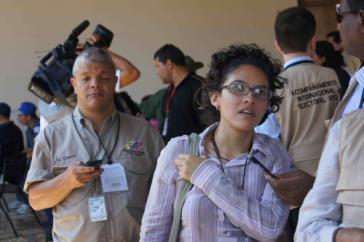 Wahlbeobachter am 14. April in Venezuela