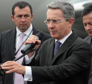 Der Ex-Präsident von Kolumbien und aktuelle Senator von der ultrarechten Partei Centro Democrático, Álvaro Uribe
