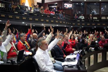 Bei der Abstimmung über die Sondervollmachten für Präsident Maduro