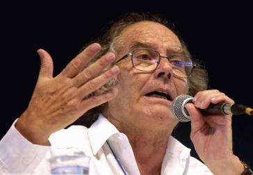 Der argentinische Friedensnobelpreisträger Adolfo Pérez Esquivel