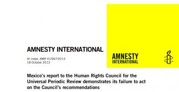 Amnesty International legte beim UNO-Menschenrechtsrat in Genf einen fünfseitigen Bericht über die Lage der Menschenrechte in Mexiko vor