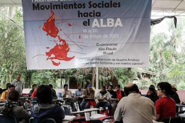 """200 Delegierte aus 22 Ländern nahmen am """"Ersten kontinentalen Treffen der Sozialen Bewegungen in Richtung ALBA"""" teil"""