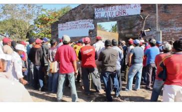 Protestversammlung in der Gemeinde Álvaro Obregón