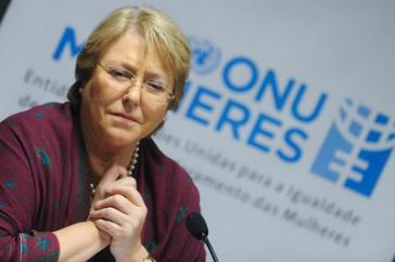 Michelle Bachelet, Kandidatin der Sozialistischen Partei Chiles für die Präsidentschaftswahlen im November 2013