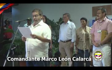 FARC-Kommandant Marco León Calarcá am Montag in Havanna