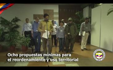 Iván Márquez gab am Mittwoch die acht Minimal-Vorschläge der FARC bekannt