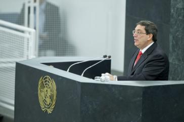 Kubas Außenminister Bruno Rodríguez vor der UNO-Vollversammlung