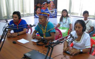 Profitiert vom neuen Gesetz: Kommunitäres Radio in einer indigenen Gemeinde Ecuadors