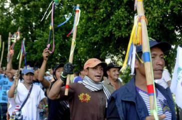 Bauerndemonstration in Tibú