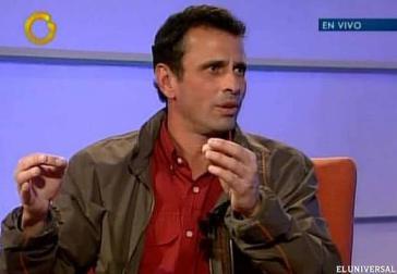 Henrique Capriles im privaten Fernsehsender Globovisión
