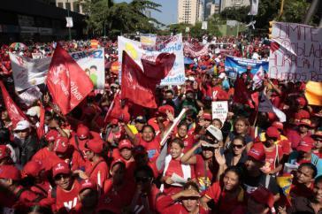 Teilnehmer der Demonstrationen für Hugo Chávez