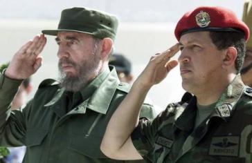 Fidel Castro und Hugo Chávez