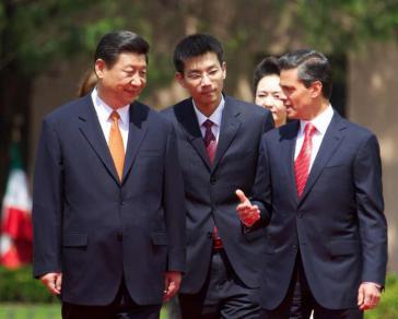 Staatspräsident Xi Jinping und Präsident Enrique Peña Nieto