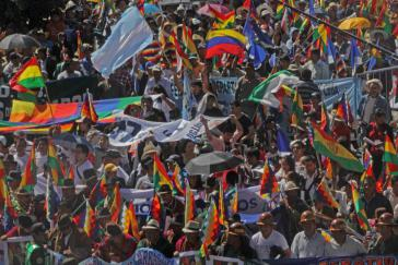 Abschlusskundgebung in Cochabamba