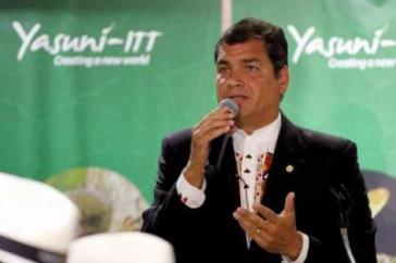 Ecuadors Präsident Rafael Correa will die Yasuní-ITT-Initiative überprüfen