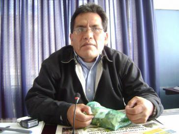 Boliviens Vizeminister für Koka und integrale Entwicklung, Dionisio Núñez
