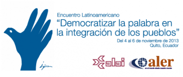 """Logo des Treffens """"Lateinamerikanisches Forum der Kommunkation für die Integration"""""""
