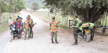 Ortseingang von Santa Isabel del Manso, dem Ort des Massakers