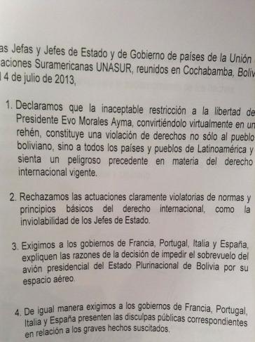 Erklärung von Cochabamba (2)