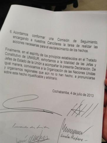 Erklärung von Cochabamba (3)