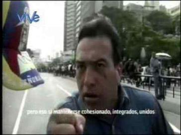 Antonio José Rivero González im Video vom 15. April
