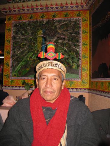 Óscar Guariyú. Präsident der indigenen Wayúu-Räte AACIWASUG.