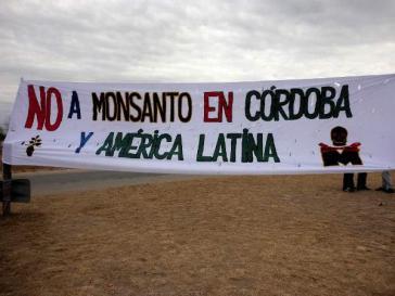 Die Ortschaft Malvinas Argentinas protestiert gegen den US-Konzern Monsanto