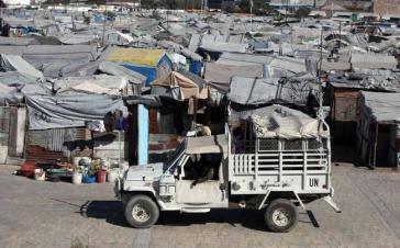 Eines der Zeltlager in Haiti