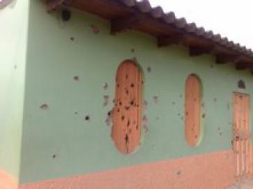 Spren eine Anschlags gegen Sympathisanten der Partei LIBRE in Olancho, Honduras