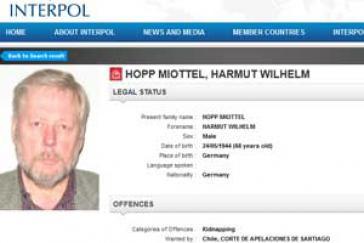 Fahndungsblatt von Hartmut Hopp bei Interpol