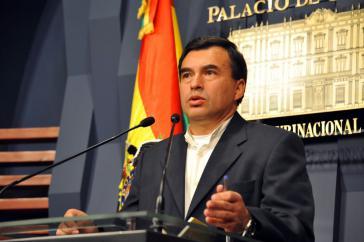 """Präsidialminister Juan Ramón Quintana: """"Wir sind es leid, die politische Einmischung von IBIS in Bolivien zu tolerieren."""""""