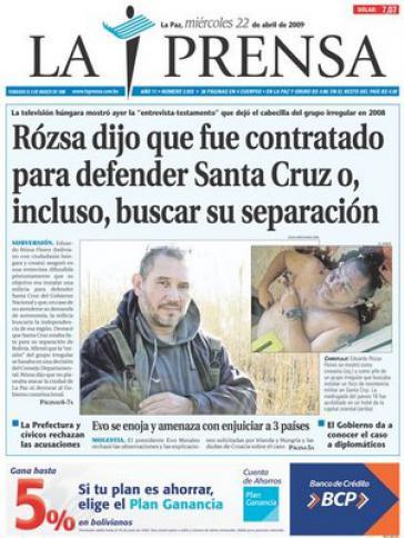 Titelblatt La Prensa: