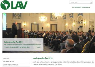 """Internetseite des Lateinamerika-Vereins mit einem Bericht über den """"Lateinamerika-Tag"""""""