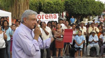 López Obrador bei einer Kundgebung in Mexiko vor wenigen Tagen
