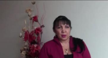 Anwältin Ludys Pedraza. Foto aus einem Video von Santiago Villa