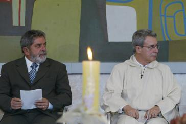 Präsident Lula da Silva und der Theologe Frei Betto