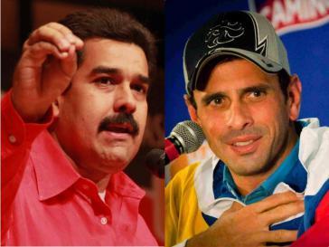Die beiden Kandidaten mit den besten Chancen: Nicolás Maduro Moros und Henrique Capriles Radonski