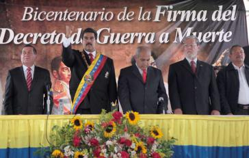 Präsident Maduro bei den Feierlichkeiten in Ciudad Trujillo