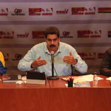 Präsident Maduro am Donnerstagabend
