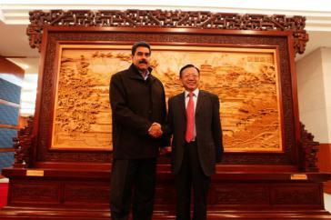 Venezuelas Präsident Nicolás Maduro und Chinas Staatschef Xi Jinping während des Treffens in Peking