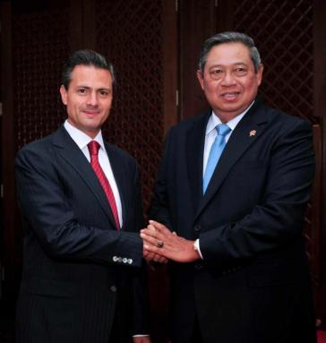 Mexikos Präsident Enrique Peña Nieto und sein indonesischer Amtskollege Susilo Bambang Yudhoyono